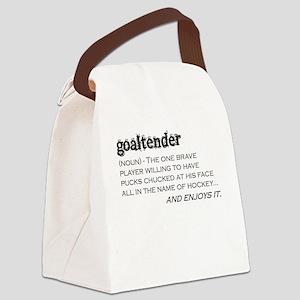 Goaltender Canvas Lunch Bag