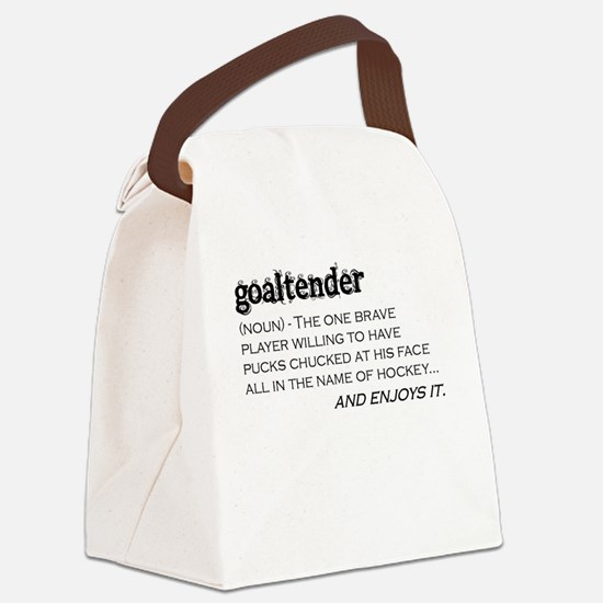 Goaltender Canvas Lunch Bag
