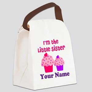 Big Sister Cupcake Custom Canvas Lunch Bag