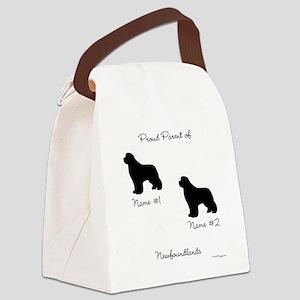 2 Newfoundlands Canvas Lunch Bag