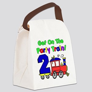 Party Train Two Year Old Canvas Lunch Bag