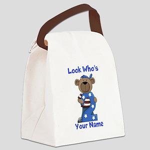 birthday bear 2 custom Canvas Lunch Bag