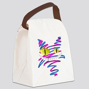 Silly Cheshire Cat Canvas Lunch Bag