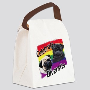 Celebrate Diversity Rainbow P Canvas Lunch Bag