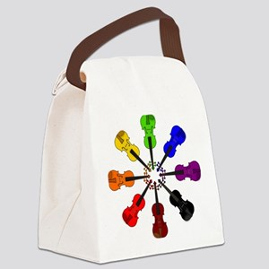 Circle of Violins Canvas Lunch Bag