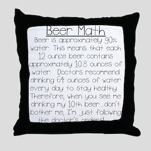 Beer Math Throw Pillow