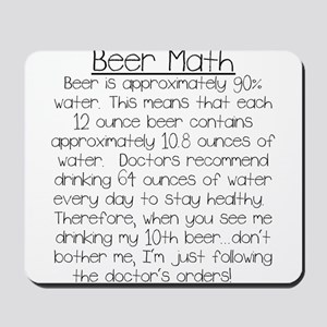 Beer Math Mousepad