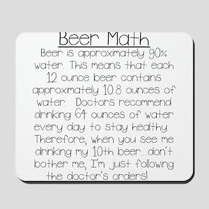 Beer Math Mousepad