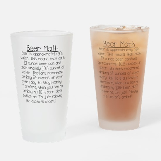 Beer Math Drinking Glass