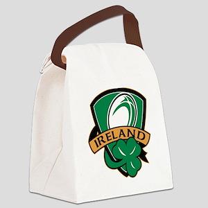 rugby ireland shamrock Canvas Lunch Bag