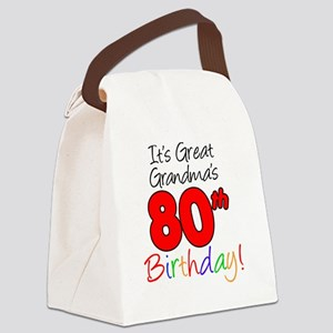 Great Grandma's 80th Birthday Canvas Lunch Bag