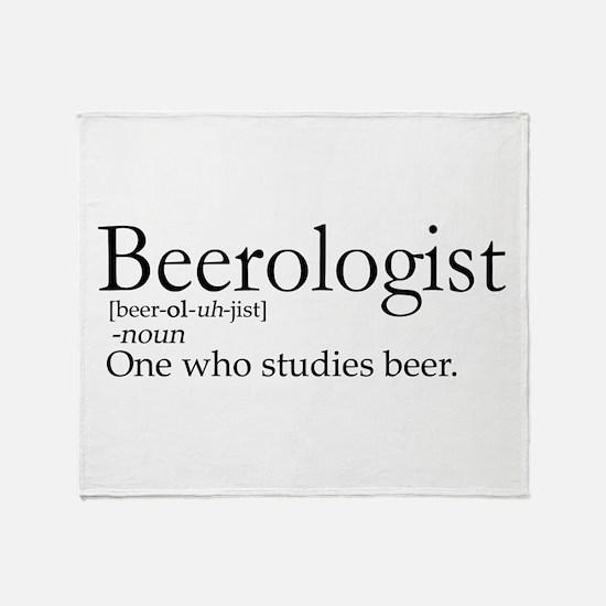 BeerologistDark.png Throw Blanket