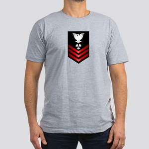 Navy Machinist's Mate First Class Men's Fitted T-S