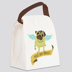Pugs Not Drugs (Angel) Canvas Lunch Bag