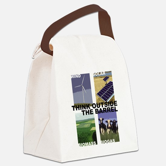Think Outside the Barrel Canvas Lunch Bag