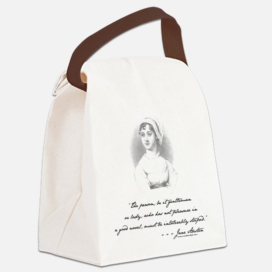 Jane Austen Attitude Canvas Lunch Bag