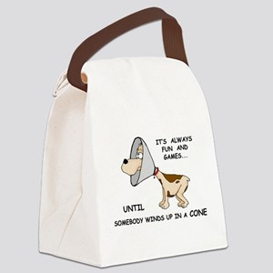 Dog Cone Canvas Lunch Bag