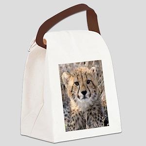 Cheetah Cub Canvas Lunch Bag