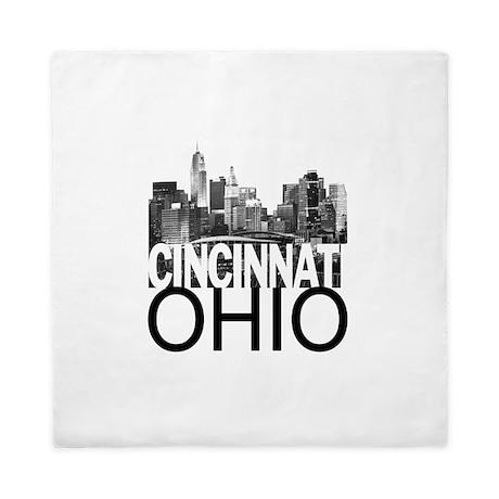 Cincinnati Skyline Queen Duvet