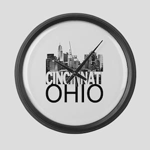 Cincinnati Skyline Large Wall Clock