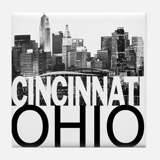 Cincinnati Skyline Tile Coaster