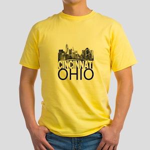 Cincinnati Skyline Yellow T-Shirt