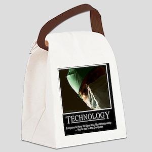 EMR Technology Canvas Lunch Bag