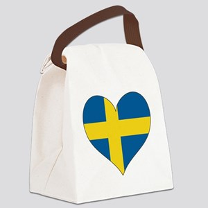 Flag in Heart Canvas Lunch Bag