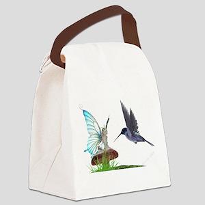 Hummingbird and Fairy Canvas Lunch Bag