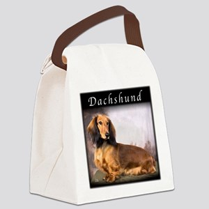 Dachshund Longhaired Canvas Lunch Bag