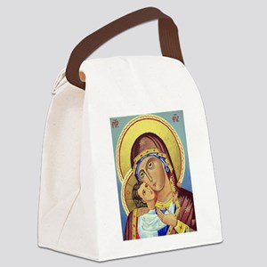 Russian Orthodox Icon of Mary & Jesus Canvas Lunch