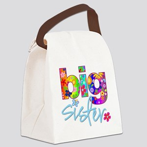 big sister t-shirt flower Canvas Lunch Bag