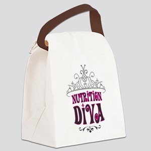 Nutrition Diva Canvas Lunch Bag