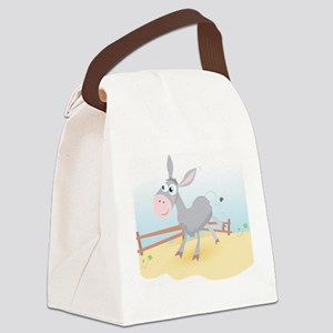 'Sunny Donkey' Canvas Lunch Bag