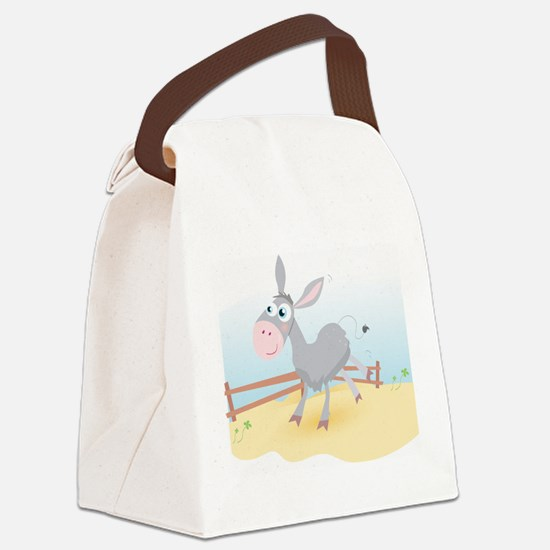 'Sunny Donkey' Canvas Lunch Bag