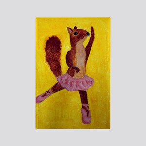 Ballet Squirrel Rectangle Magnet