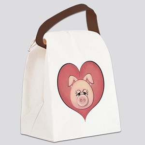 Pig Heart Canvas Lunch Bag