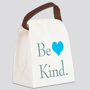 """Be Kind"" with a heart. Canvas Lunch Bag"