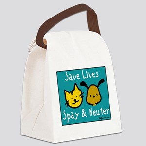Save Lives Spay & Neuter Canvas Lunch Bag
