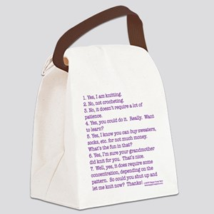 Answers (purple) Canvas Lunch Bag