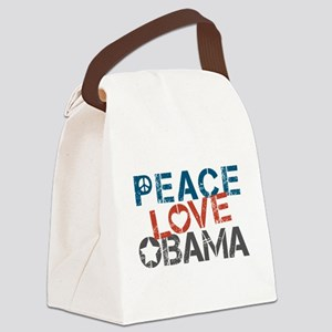 Peace Love Obama Canvas Lunch Bag