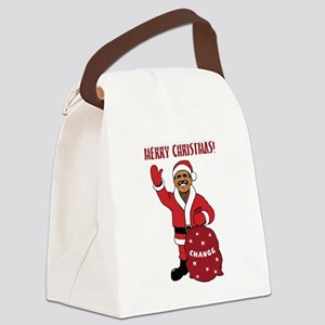 obama_santa_mc Canvas Lunch Bag