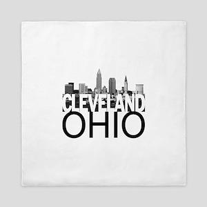 Cleveland Skyline Queen Duvet