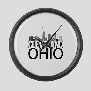 Cleveland Skyline Large Wall Clock