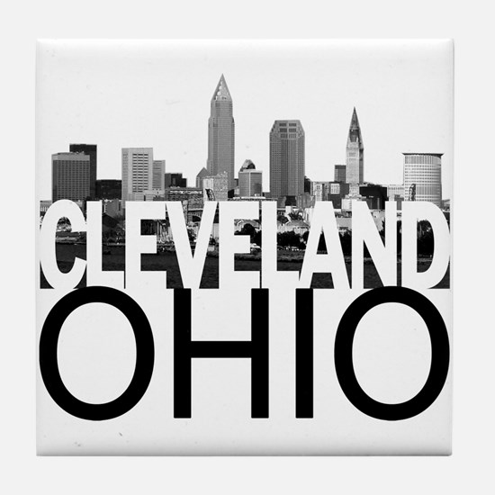 Cleveland Skyline Tile Coaster