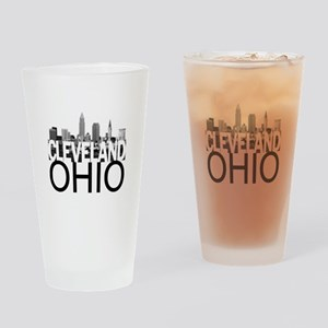 Cleveland Skyline Drinking Glass