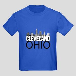 Cleveland Skyline Kids Dark T-Shirt