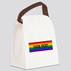 Personalize Rainbow Canvas Lunch Bag