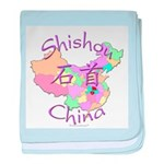 Shishou China Map baby blanket