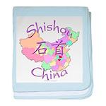 Shishou China Map baby blanket